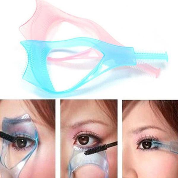 Curler Mascara Guide Applicator Lash Guard Eyelash Curling Comb 3 In 1 Mascara Eyelash Applicator Guide Card Comb Eyelash