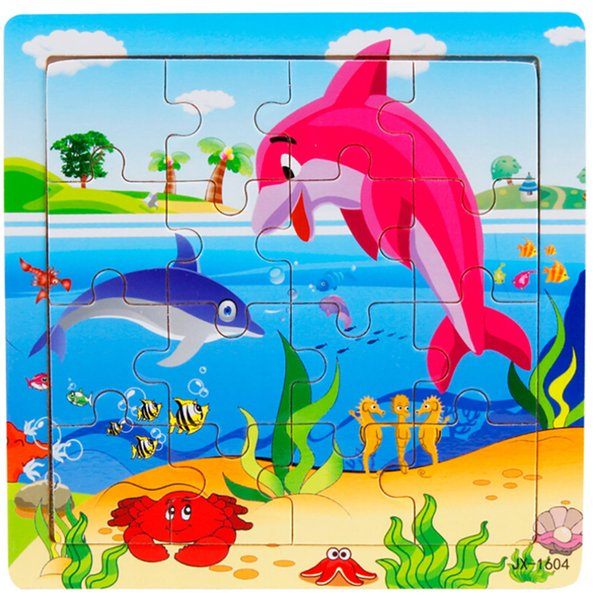 top popular Wooden Toys Building Blocks For Baby Educational Montessori Jigsaw Puzzel For Children 4 years Animals Baby Training 159632 2019