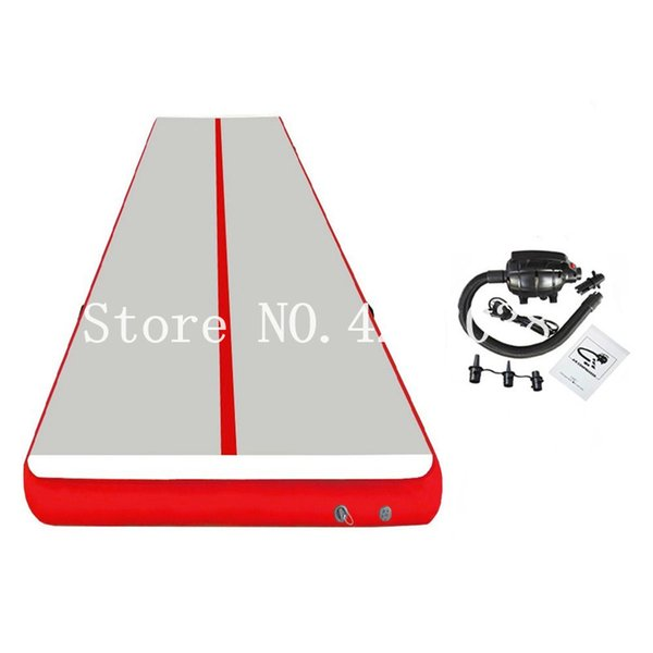 Free Shipping 6x1x0.2m gray and red Inflatable Air track Air Floor Mat Tumble Track Inflatable Airtrack For Kids