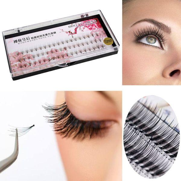 Good quality material No deformation RACHEEL 3D Natural Thick False Fake Eyelashes Eye Lashes Makeup Extension Mixing Length