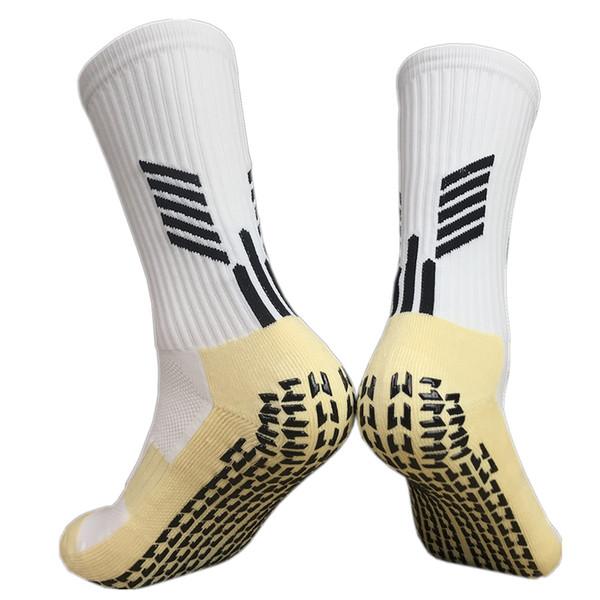 2019 Erkekler Yaz Koşu Bisiklet Futbol Çorap Yüksek Kalite Erkekler Pamuk ve Kauçuk Çorap Kaymaz Nefes Futbol Çorap Meias 8 Renkler