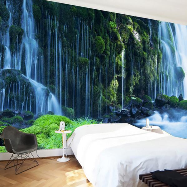Пользовательские 3D Обои Классический Водопад Природа Пейзаж Настенная Живопись Спальня Гостиная Украшение Дома 3D Настенные Обои