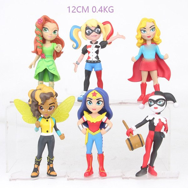 Compre 6 Estilo Superhero Mulher Maravilha Harley Quinn Figura