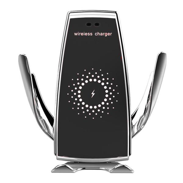 Otomatik Sıkma Hızlı Şarj Telefon Tutucu Dağı in iPhone xr Huawei Samsung Akıllı Telefon için Araba 10 W Kablosuz Araç Şarj