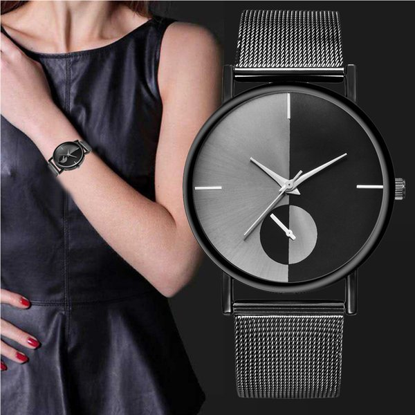 2019 New Luxury Watch Fashion Womens Fashion Classic Gold Quartz Stainless Steel Wrist Watch Orologio Uomo Gift Hot Sales #LR2
