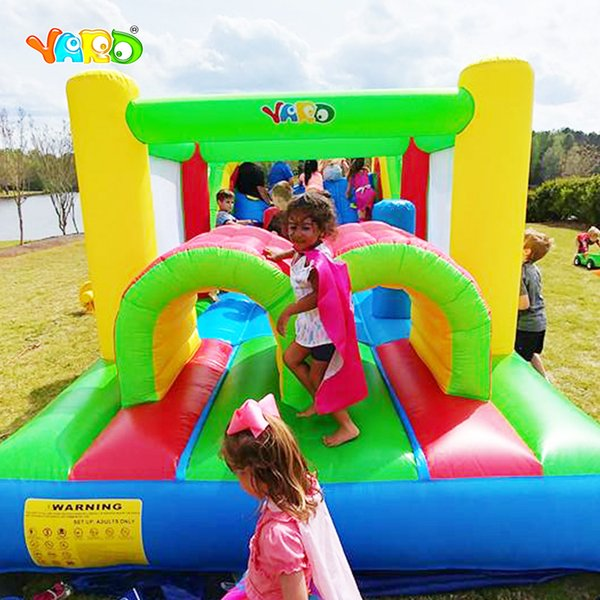 Free Shipping Bounce House Inflatable Obstacle Course Jumper Moonwalk Trampoline For Kids