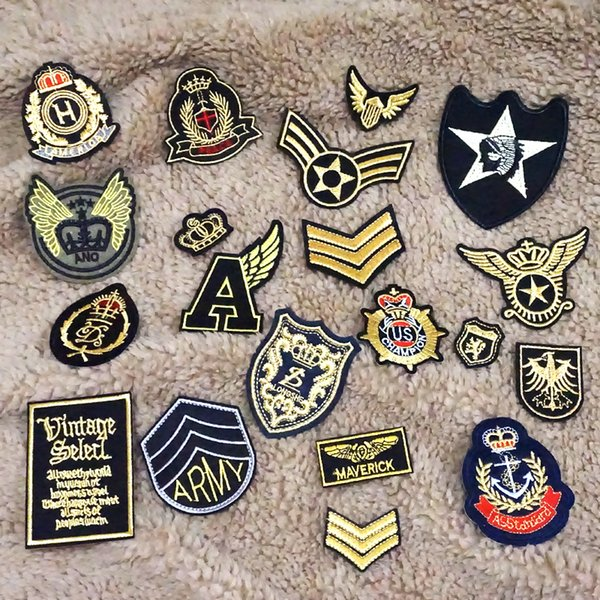 d9913618c0f7 2019 Random Stripes Patches For Clothing Iron On Patches Military Mixed  Embroidery Patch Applique Badges Stickers For Clothes From Pingwang2,  $215.08 ...