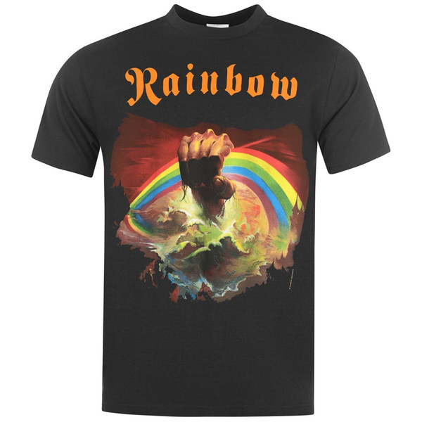 Official Rainbow T Shirt Mens Rising Top Tee Tshirt Brand shirts jeans Print Classic Quality High t-shirt