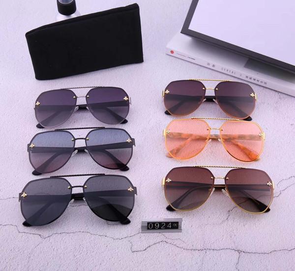 Les lunettes de soleil universelles pour hommes et pour femmes, sans cadre, peuvent être assorties à la jambe du miroir en plaque pure 0924