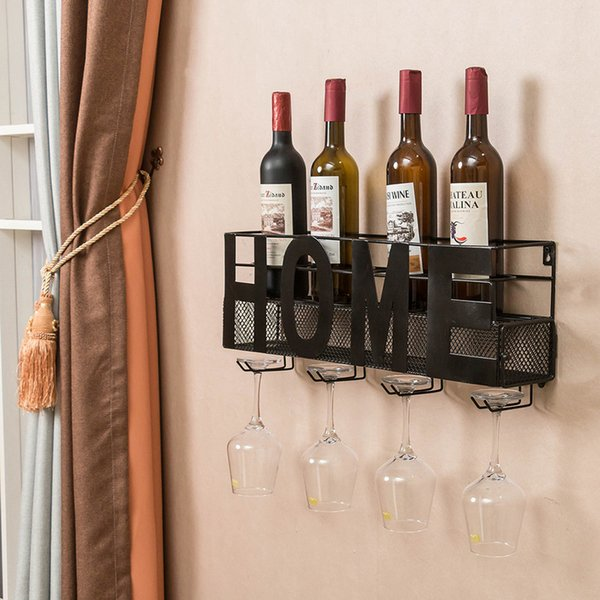 wall mounted wine rack cork storage container hanging wine glass holder storage rack home kitchen bar decor accessories