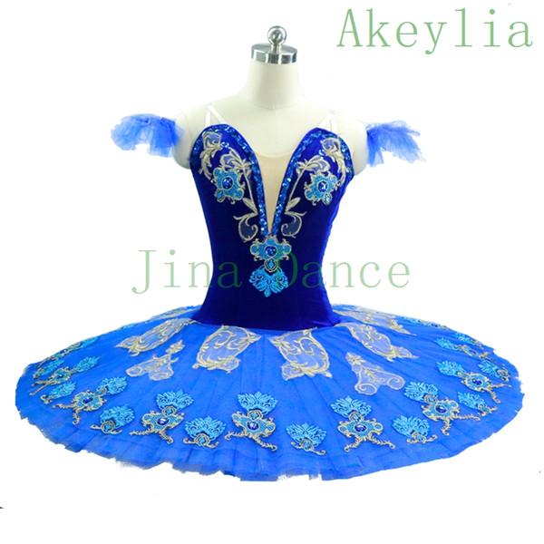2019 Women Royal Blue Bird Classical Professional Ballet Tutu Girls  Performance Ballet Stage Costumes Tutus Blue Ballet Dance Wear For Kids  From