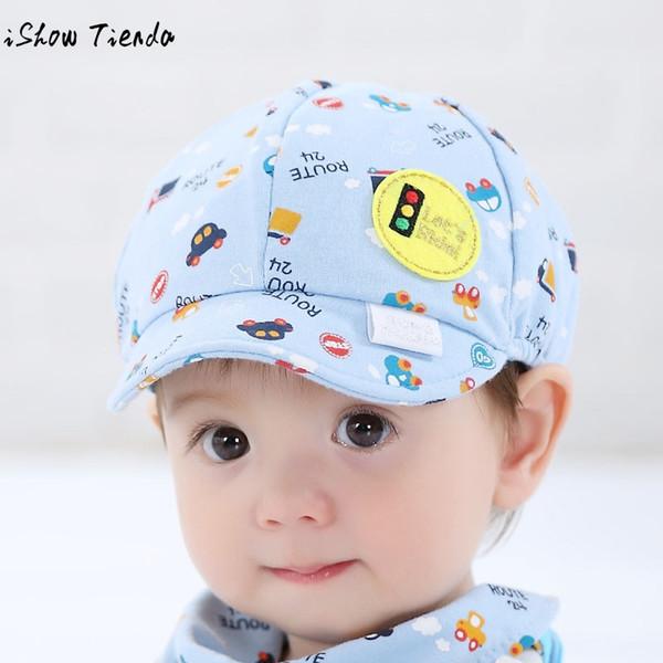 2018 Baby Hat nette Karikatur-Druck Kleinkind Infant Cap Kleines Auto Baseballmütze Gorro Infantil
