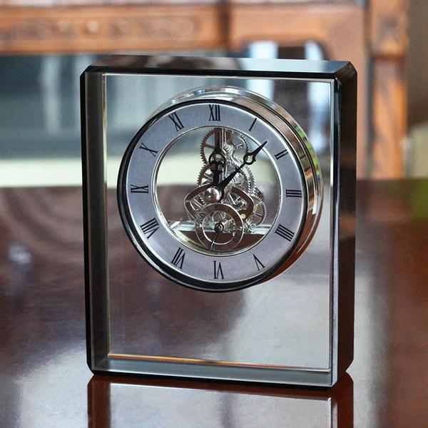 Avrupa Mekanik Saat Dekorasyon Ev Dekorasyon Salon Yaratıcı Masaüstü Kristal Saat Amerikan Şarap Dolabı El Sanatları