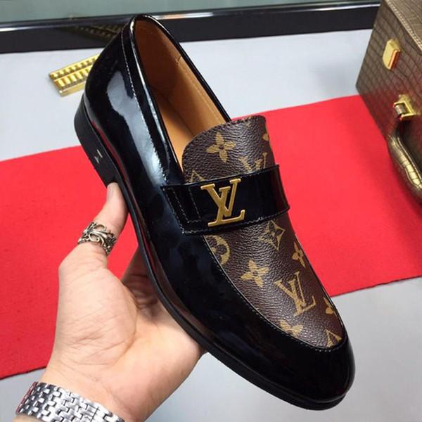 Erkekler Ayakkabı Moda Lüks Üst Kalite Erkek Deri Germain Loafer Haussmann Derby Resmi elbise ayakkabı Satılık Nefes Günlük Elbise Ayakkabı