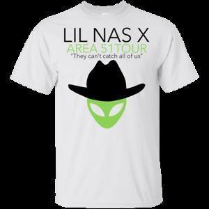 Ausflug-T-Shirt des Bereichs-51 Sie können 039 t alle uns Lil Nas X White Grey Short Men