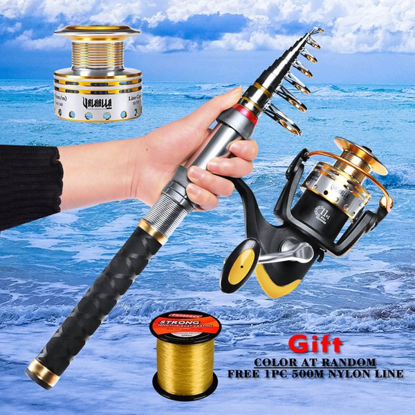 1 set fishing tackle pro beors fishing rod+fishing reel+nylon line combo rod 1.5-3.6m+spinning reel 2500-4500 series thumbnail