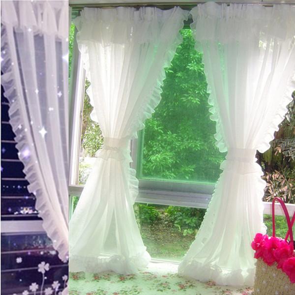 Modern Dantel Tül Perdeleri Oturma Odası Yatak Odası Için Beyaz Sırf Perde Mutfak Pencere Ev Dekorasyon Için Perdeler Rideaux Voilage