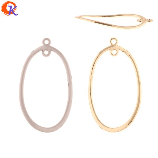 wholesale 100Pcs 26*45MM Jewelry Accessories/Earrings Connectors/Oval Ring Shape/DIY Making/Hand Made/Earring Findings