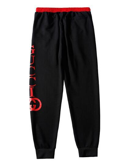 European station tide brand 19 double ring N--Y LOGO embroidered casual pants men and women beam foot pants simple pants