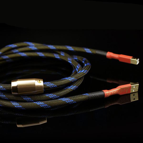 Di buona qualità Aucharm 4N decodificatore di rame privo di ossigeno Scheda audio Cavo audio Linee dati DAC Cavo HiFi 2.0 USB