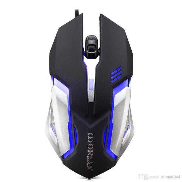 Kablolu Gaming Mouse Ayarlanabilir 1600 DPI Renkli LED Işık 4D Oyun Fareler PC Bilgisayar Dizüstü Tablet