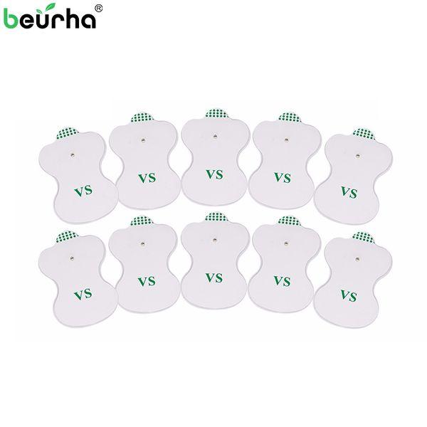 30 Pçs / lote Eletrodo Pads para Digital DEZENAS Terapia Máquina Eletrônica Cervical Vértebra Fisioterapia Pad Massager Médio