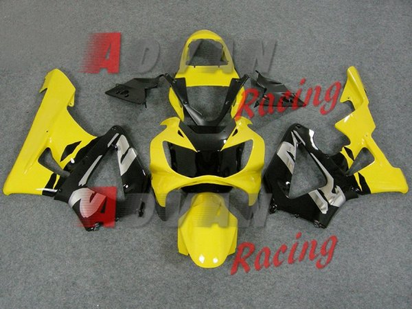 3gifts High quality New ABS motor fairings fit for HONDA CBR 929RR 929 2000 2001 CBR929RR 00 01 CBR 900RR fairing kits custom yellow black