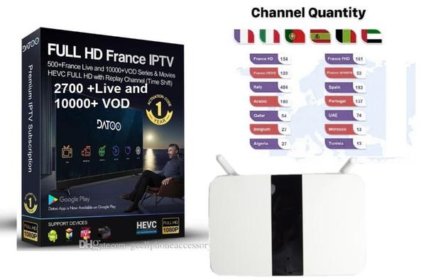 IPTV Box Smart-Android 6.0 Europe TV kostenlos anschauen Arabisch Französisch Deutschland UK Italien Spanien IP-TV-Kanäle Datoo