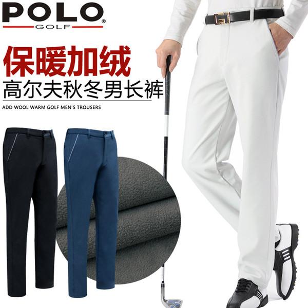Calças de Golfe Mens Mid Cintura Respirável Macio Calças Autênticas Em Linha Reta Comprimento Total Calças de Golfe Vestuário Golfbukser