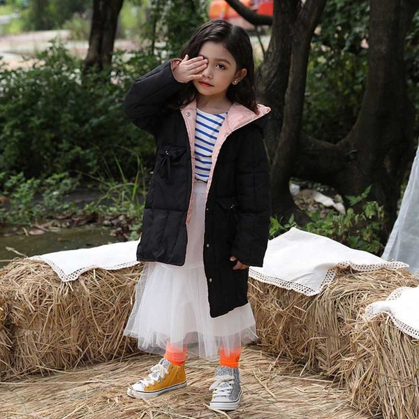 Baby Winter Boys and Girls Clothes Long Girls Pink Black White Clothes Coats Thick Coats Children Warm Comfortable Clothing