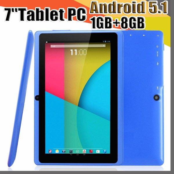 top popular 168 7 inch Q88 Tablets Quad Core AllWinner A33 1.2GHz Android 5.1 1GB RAM 8GB ROM Bluetooth WiFi OTG Tablet PC A-7PB 2020