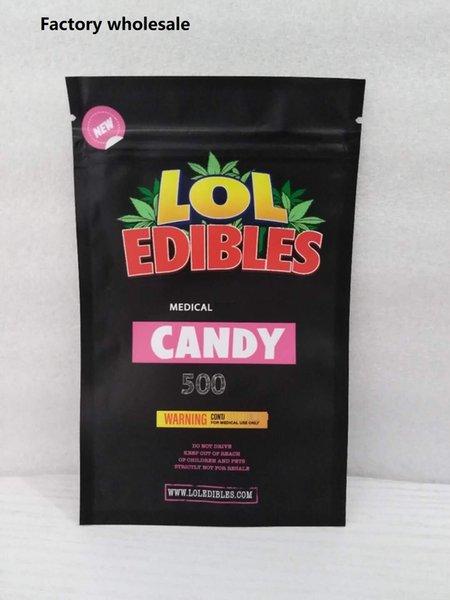 top popular Newest HASHTAG HONEY Medicated 500mg Lol edibles packaging Hashtag Honey Candy bag Cookies White runtz PINK rozay sorbet bag 2020
