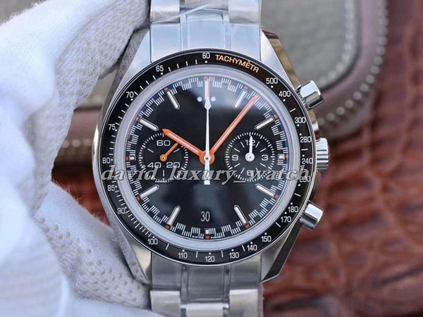 Reloj para hombre reloj de cuarzo diseñador de velocidad 300 Racing Maestro coaxiales Moonwatch Spectre Profesional Hombres Negro Naranja de lujo