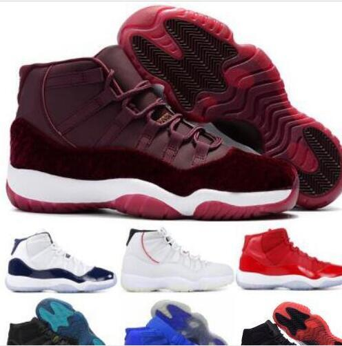18b0a25bb79 Cheap New 11 11s Basketball Shoes Sneakers 2019 Mens Women Gym Red Bred  Platinum Tint Heiress Velvet Like 96 82 Space Jam Concord XI Shoes Sports  Shoes ...