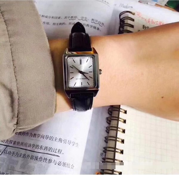 RING F91Explosion models small square watch women's watch small black table super fire retro square belt female student table