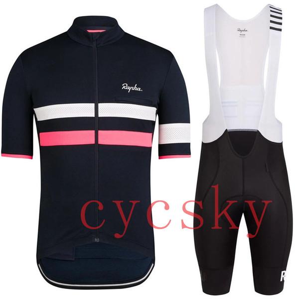 2019 RAPHA Team Mens Cycling Jersey Summer Mtb Bike Clothing quick dry Bicycle Short Sleeves Bib Shorts Suit Sports Uniform