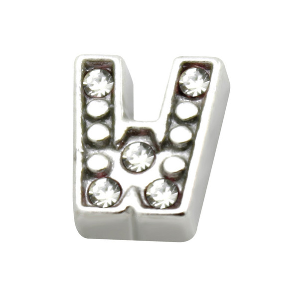 10pcs Silver U-Z Alphabet Letter Floating Charm Initial Locket Charms Pendants For Floating Locket DIY Charm LSFC113