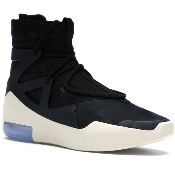 King Shoes Fear Of God 1 Men Running Shoes For Big Women Designer Sneakers Sports Women Trainers White Black Fog Ar4237-002