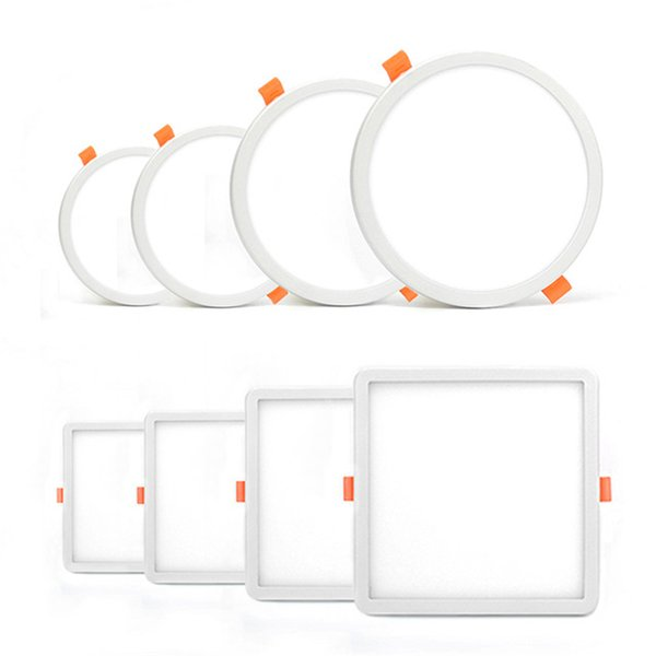 Свет панели Сид круглый квадратный ультра тонкий Даунлигхт АК85-265В 6в 8В 15В 20В потолок Сид утопил свет для крытой ванной комнаты освещает