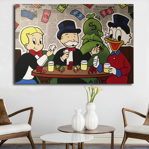 What To Buy Scrooges McDuckes Alec Monopolyingly Paintings On Star Canvas Wars Modern Art Poster Decorative Wall Pictures Home Decoration