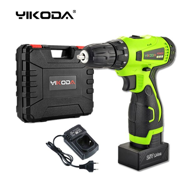 best selling 25V Cordless Drill Battery Screwdriver Home DIY Room Decoration Rechargeable Electric Drill One Lithium Battery Plastic Case