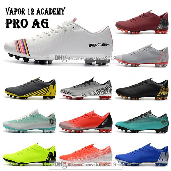 Mens Low Ankle Football Boots LVL UP Vapors 12 Academy CR7 AG-R Soccer Shoes Mercurial Superfly AG Neymar ACC Soccer Cleats