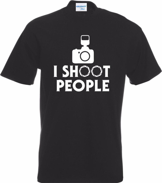 Fashion Men T Shirt Sexy T Shirts Shoot People T-shirt Funny Camerappopo Grpahy Ppopographer Gift Snapper Skull Tee Shirt