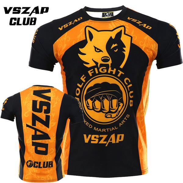Boxing Training T-Shirt VSZAP MMA Tee Kickboxing Muay Thai Training Fight Wear