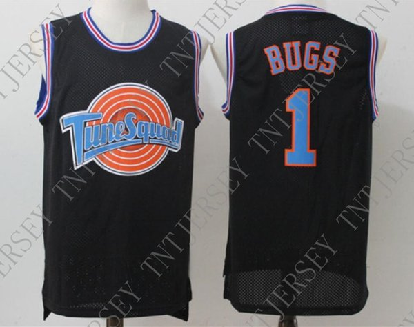 Cheap custom #1 BUGS Space Jam Tune Squad Basketball Jersey Black Stitched Customize any name number MEN WOMEN YOUTH JERSEY XS-5XL