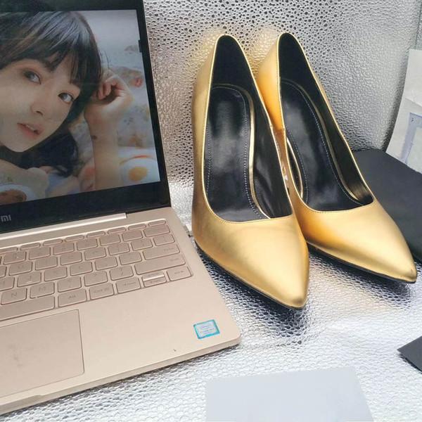 2019 Diseñador de moda de lujo zapatos de mujer zapatos de tacón alto rojos inferiores 8 cm 10 cm 11 cm Nude negro rojo de cuero punta estrecha bombas Zapatos de vestir