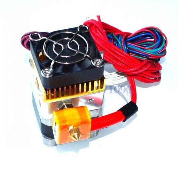 Freeshipping 0.2MM 0.3MM 0.4mm Nozzle MK8 Extruder Print Head for 3D Printer Reprap Mendel Mbot 12V/24v IN STOCK