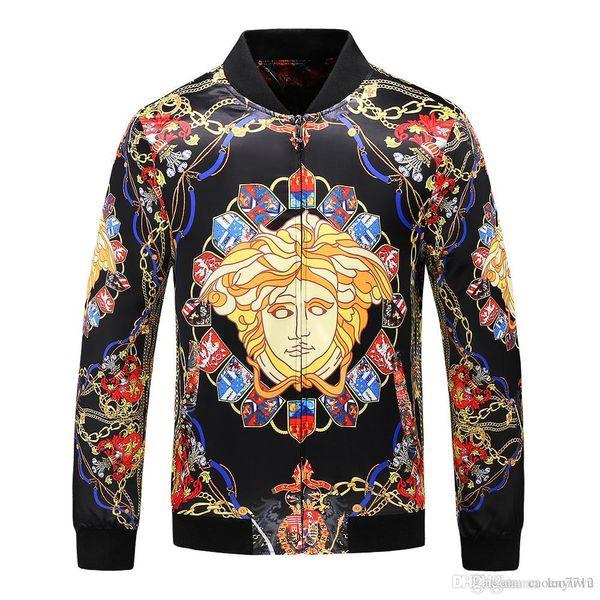 18ss italien neue mode männer jacke mantel mit brief drucken jacken windjacke mit kapuze g hoodie langarm marke mens clothing