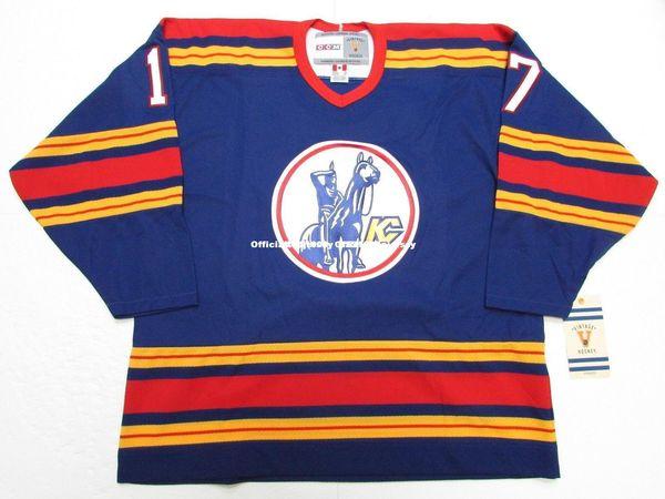 Cheap custom SIMON NOLET KANSAS CITY SCOUTS VINTAGE CCM HOCKEY JERSEY stitch add any number any name Mens Hockey Jersey GOALIE CUT 5XL