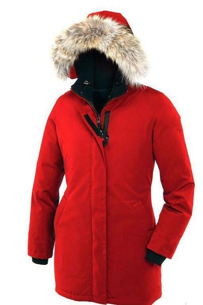 Brand Women's Victoria Parka Down Parka Jacket Fashion Outdoor Racoon Fur Ruff Hooded Down Coats women goose Down Jacket DHL Freeshippi